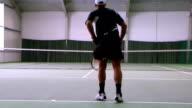 Tennis flat serve