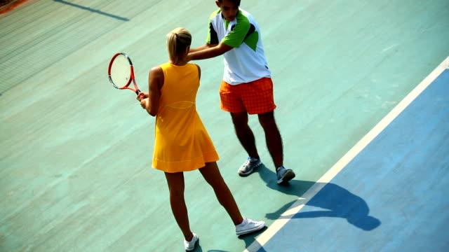Tennis lesson.