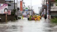 Tens of thousands of people are ordered to flee homes across Japan as heavy rain pounded the country sending radiationtainted waters into the ocean...