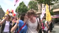 Tens of thousands of people thronged the streets of Paris to mark the citys Gay Pride on Saturday exactly one month to the day since France...