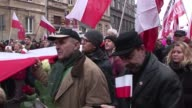 Tens of thousands of Polish opposition supporters march in the capital Warsaw to denounce alleged irregularities in last months local elections