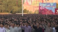 Tens of thousands of Pyongyang residents gather in Pyongyang's Kim IlSung square to laud leader Kim JongUn's denunciation of US President Donald Trump
