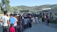 Tensions are running high among refugees and migrants in the camp for non Syrians on the Greek island of Lesbos
