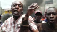 Tensions soar in Kenyan opposition leader Raila Odinga's strongholds in Nairobi in Mathare slum protesters place burning barricades along a main road...