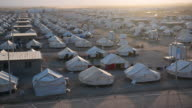 Tents are pictured in Debaga refugee camp where people displaced by fighting in and around Mosul have sought shelter on October 22 2016 in Debaga...