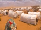 Tents in the UN refugee camp based in Dadaab in the edge of the Ogaden desert following the famine in Somalia August 2011