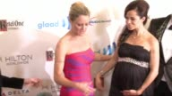 Teri Polo and Sherri Saum at the 25th Annual GLAAD Media Awards at The Beverly Hilton Hotel on April 12 2014 in Beverly Hills California