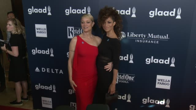 Teri Polo and Sherri Saum at the 28th Annual GLAAD Media Awards at The Beverly Hilton Hotel on April 01 2017 in Beverly Hills California