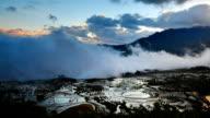 terraced fields In the sea of clouds