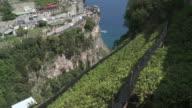 MS Terraced lemon grove on side of hill / Amalfi, Campania, Italy