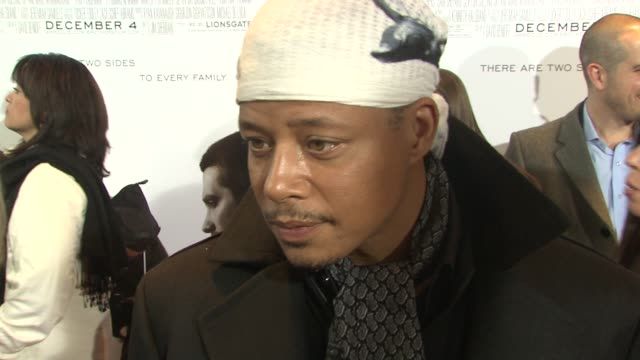 Terrence Howard on being here to see his friend's movie and what he is working on currently at the New York premiere of 'Brothers' at New York NY