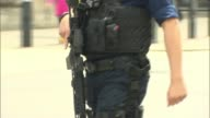 Terror attacks putting increased strain on police force R250517017 / 2552017 EXT Anonymous armed police officer along Anonymous armed police officers...