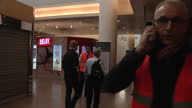 Terror in Brussels Sky Correspondent Alex Rossi Was At The Scene When The Attacks Happened Showing Interior shots distressed passengers in airport...