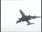 Airport security ITN ENGLAND London Heathrow Airport Armoured army vehicles along with police cars as patrolling Heathrow Airport in aftermath of...