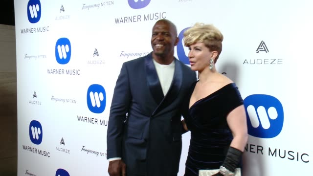 Terry Crews Rebecca Crews at Warner Music Group Grammy After Party 2016 in Los Angeles CA