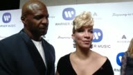 INTERVIEW Terry Crews Rebecca Crews on why they wanted to celebrate music's biggest night with Warner Music coolest part of being able to attend the...