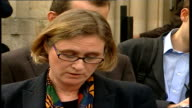 Terry Lloyd inquest rules he was unlawfully killed Statements Angela Frier speaking to press SOT Reads statement from Fabienne MercierNerac widow of...
