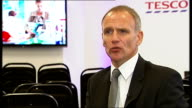 Tesco Chief Executive interview ENGLAND London INT Dave Lewis interview SOT on accounting scandal its basically an accounting issue / about timing...