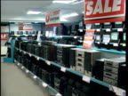 Tesco /Adidas deal BUSINESS Electrical goods on sale in shop