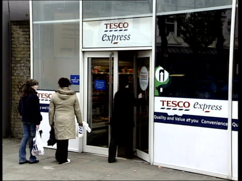 Britain's favourite supermarket LIB Tesco express store Europa Foods store