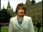 Tessa Jowell interview on her new position in Government ENGLAND London GIR INT Tessa Jowell LIVE 2WAY interview from Westminster SOT On Gordon...