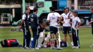Test career of Kevin Pietersen in doubt after text message row ENGLAND London Lord's EXT Wide shot England players at training session including...