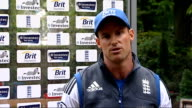 Test career of Kevin Pietersen in doubt after text message row Lord's Strauss arriving at press conference Reporter asking Strauss question SOT...