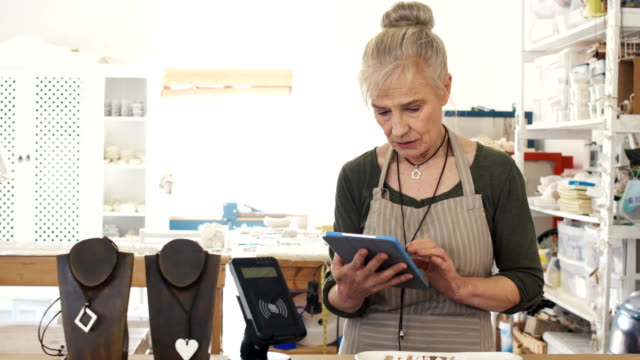 Testimonial video portrait of a senior woman entrepreneur