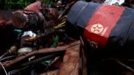 Texaco barrels abandoned in Amazonian dumpster
