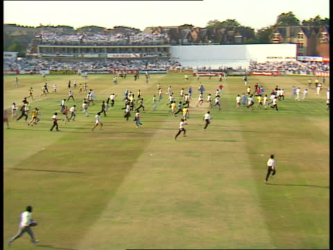 Texaco Trophy Indian fans rush onto pitch