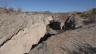 Texas Big Bend Tuff Canyon side wall