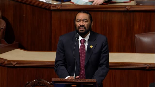 Texas Congressman Al Green says as a proud member of the house he has the preeminent privilege of standing in the well to speak for constituents that...