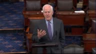 Texas Senator John Cornyn updates the Senate on the damage and initial recovery efforts underway in his state a week after hurricane Harvey struck...
