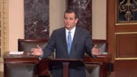 Texas Senator Ted Cruz engages the argument of sanctuary city proponents that not all immigrants are criminals rather that a bill to rescind grants...
