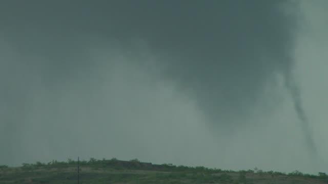 Texas Tornado Touching Down Over A Field