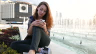 Texting at the fountains