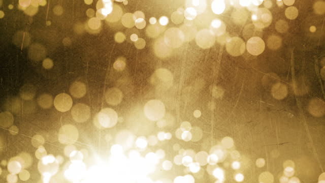Textured Particles Background Loop - Grunge Gold (Full HD)