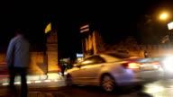 Tha Phae Gate, landmark in Chiang Mai, Thailand, timelapse