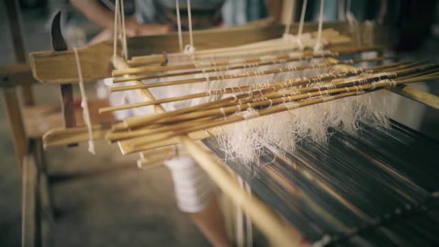 Thai hand weaving cotton