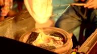 Thai dessert fatti in casa di notte