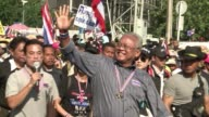 Thai opposition leader Suthep Thaugsuban leads protesters as they launch their attempted shutdown of Bangkok in an escalation of their campaign to...