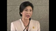 Thai Prime Minister Yingluck Shinawatra refuses demands by antigovernment protesters to resign ahead of upcoming elections urging them to abandon...