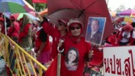 Thai Red Shirt pro government supporters held a rally on Saturday to protest a Constitutional Court ruling that forced Prime Minister Yingluck...