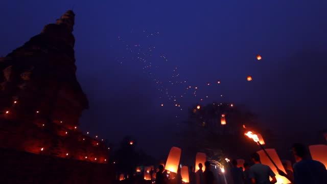 Thailandese tradizionale Capodanno a palloncino