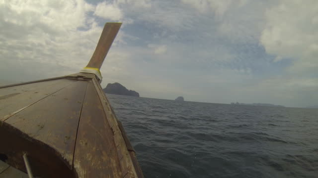 Thai wooden boat on the Andaman Sea