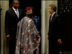 People trafficking network broken BBC ENGLAND London Downing Street Prime Minister Tony Blair MP out of Number 10 with Nigerian President Olusegun...