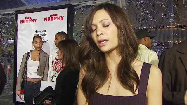 Thandie Newton on working with Eddie Brian Robbins directing style and her advice for nerdy guys like Norbit on Valentines Day at the 'Norbit'...