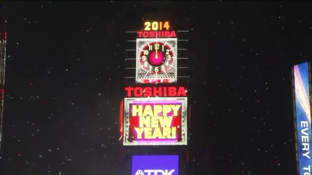 The 2014 New Year's Eve Ball Drop at One Times Square on January 01 2014 in New York New York