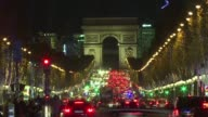 The 2016 Christmas lights of the Champs Elysees are turned on by French judo champion Teddy Riner