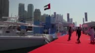 The 25th Dubai International Boat Show kicked off on Tuesday displaying luxury yachts to investors from the Middle East and all over the world